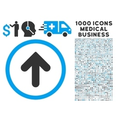 Arrow Up Icon with 1000 Medical Business vector image vector image