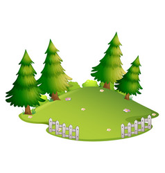 background scene with park at daytime vector image