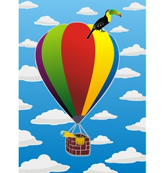 balloon with toucan vector image vector image