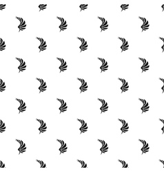 Black wing of birds pattern simple style vector