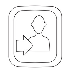 Cartoon image of login icon approach symbol vector
