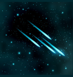 comet in the starry sky vector image vector image
