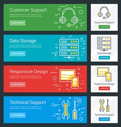 Customer Support Data Storage Responsive Design vector image