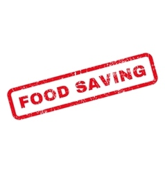Food Saving Text Rubber Stamp vector image