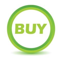 Green buy icon vector
