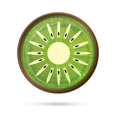 Kiwi Icon Isolated on White vector image vector image