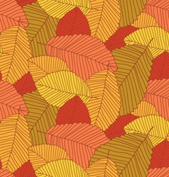 leafs pattern autumn vector image vector image