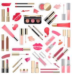 Lips makeup cosmetics vector