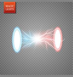 Magic fantasy portal futuristic teleport light vector