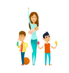 modern stylish babysitter vector image