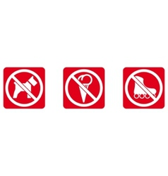 No dogs no ice cream no rollers vector