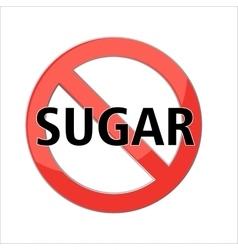 no sugar sign vector image vector image