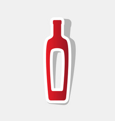 Olive oil bottle sign new year reddish vector
