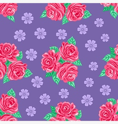 Pink roses seamless background vector