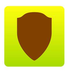 Shield sign brown icon at vector