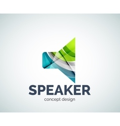 Speaker logo business branding icon vector image