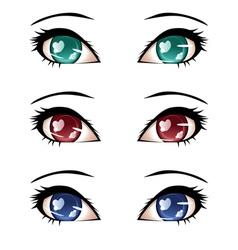 Stylized Eyes vector image
