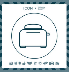 Toaster oven linear icon vector