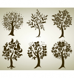 tree from flowers vector image vector image