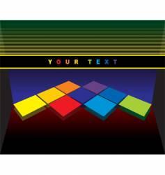 varicoloured geometric background vector image vector image