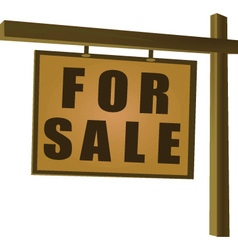 Wooden for sale sign vector