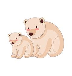 The polar bears vector