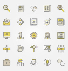 Job search colorful icons vector
