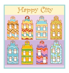 Happy city vector