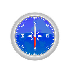 sea compass on a white background vector image