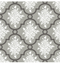 white roses seamless pattern vector image