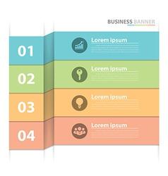 Business banner infographics vector
