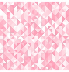 Abstract crystal pink triangle background vector