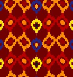 Tribal seamless of rhombuses vector image