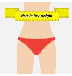 Woman figure waist how to lose waight vector
