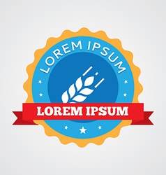 Agriculture vintage badge label icon vector