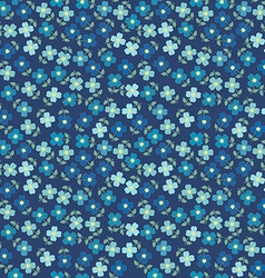 Floral seamless with blue flowers vector image