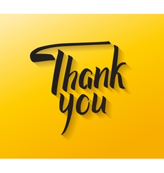 Thank you hand drawn calligraphy brush calligraph vector
