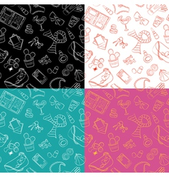 Female things pattern vector