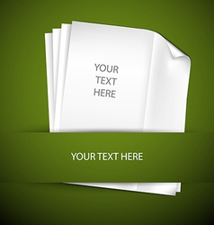 backround with papers and place for your content vector image vector image