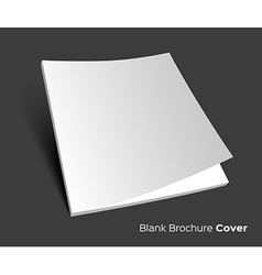 Blank brochure cover on dark vector image