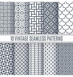 Blue line seamless patterns for universal vector