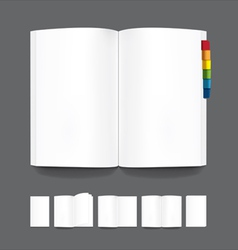 Book blank page template for design vector