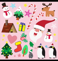 Christmas theme element for love vector