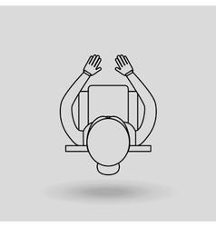 computer user design vector image