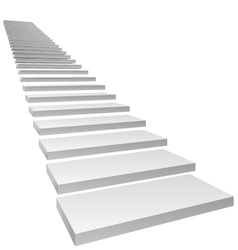 conceptual 3d stairs vector image