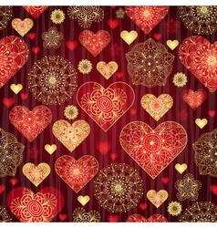 Dark red valentine pattern vector