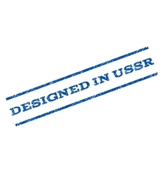Designed in ussr watermark stamp vector