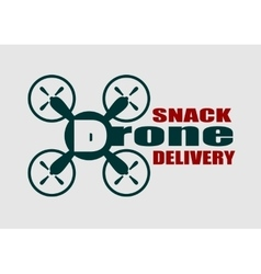 Drone quadrocopter icon drone snack delivery text vector