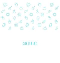 gardening eco background vector image vector image