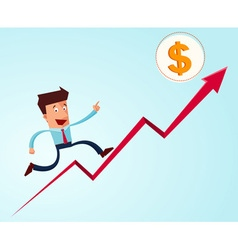 going up to the success vector image vector image